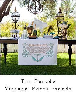 Tin Parade Vintage Party Goods